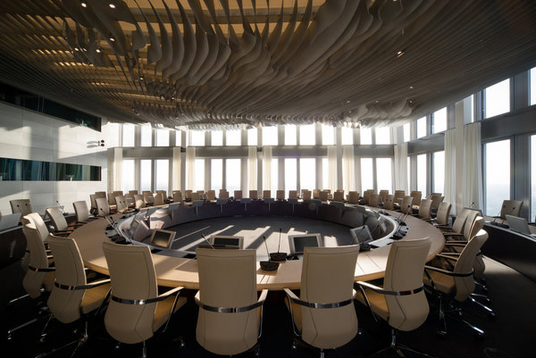 ECB council met on the 41st floor