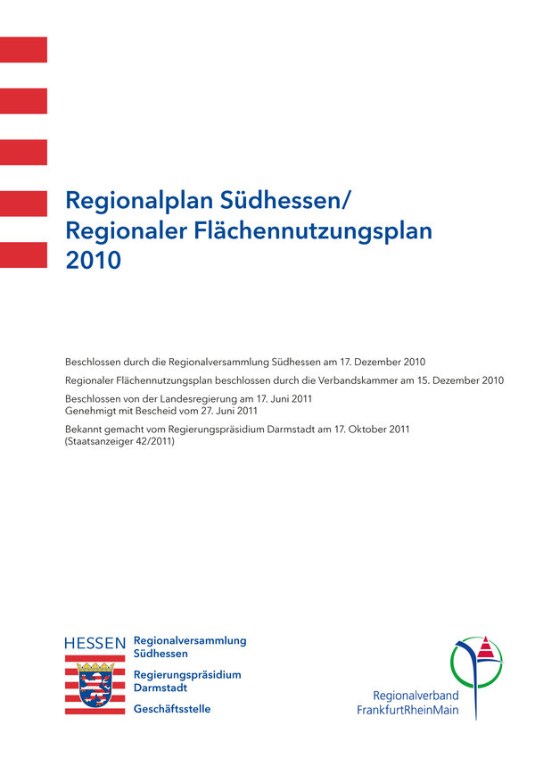 "title page ""regional plan South Hesse/ regional land-use plan 2010"""