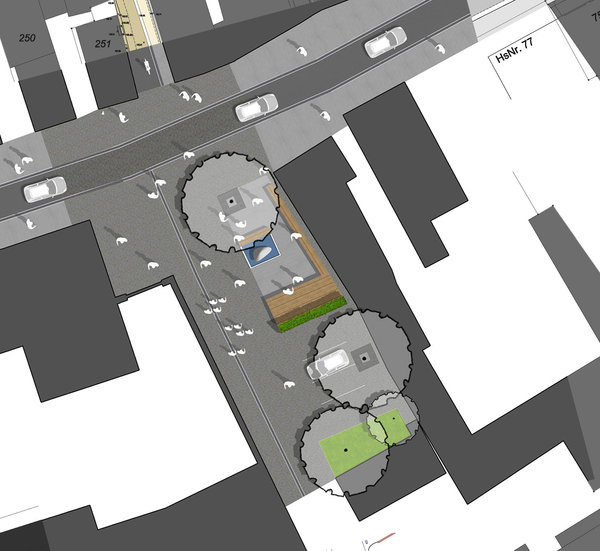 New Piazza Baugasse, overview sketch