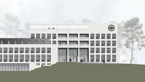 View west facade flute, visualisation © Eintracht Frankfurt, AS+P Albert Speer + Partner GmbH
