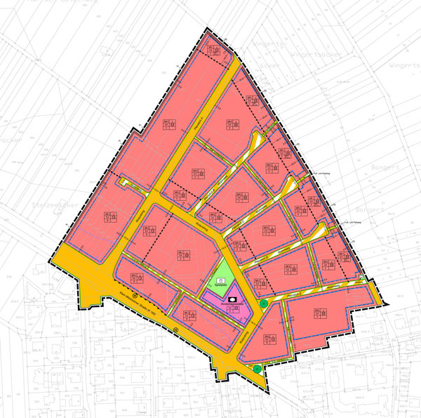 "excerpt from the ""former manroland site"" legal zoning plan"