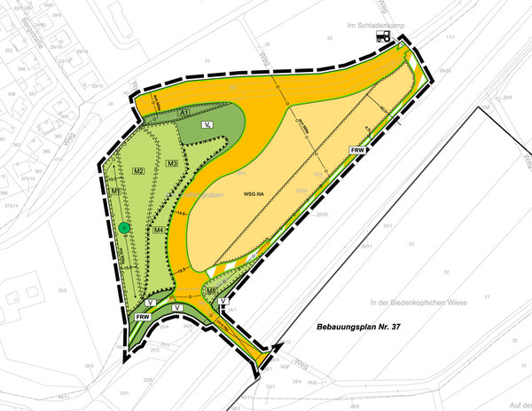 legal zoning plan no. 38 »Western access to 'Sandershäuser Berg' commercial zone«
