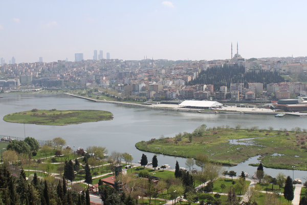planning area at the Golden Horn in the district of Beyoglu / Istanbul