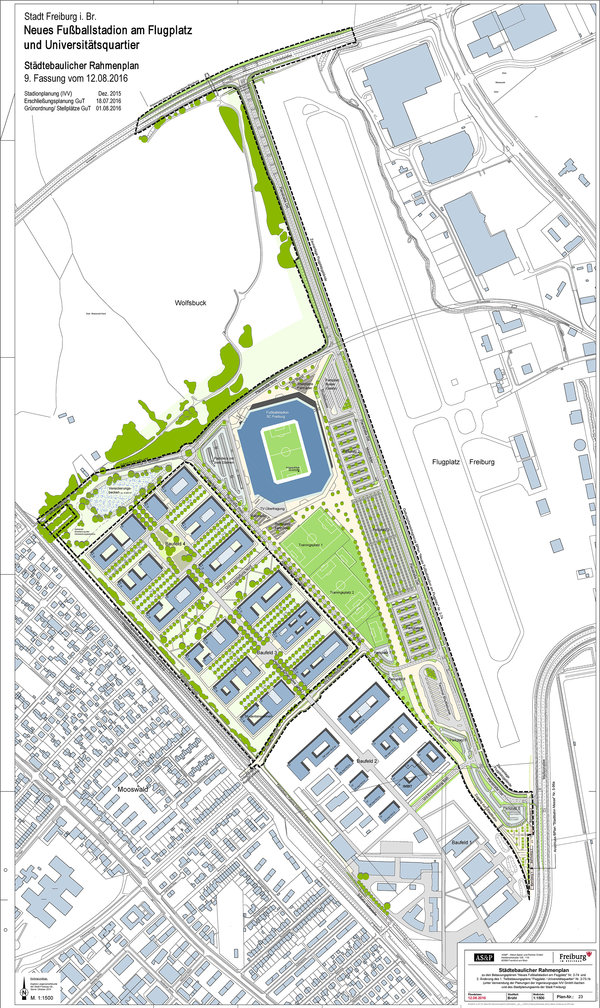 Development plan – position at the urban area