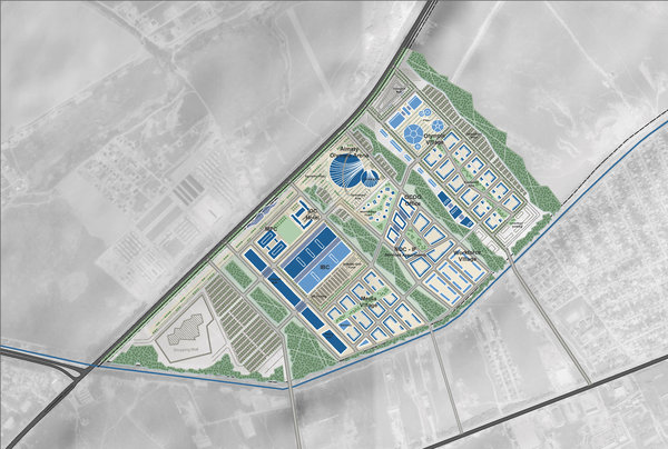 site plan »Olympic City«