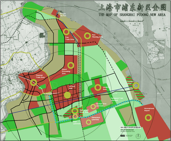 map of Shanghai Pudong