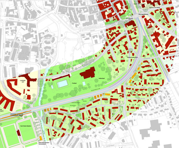 section of the urban master plan