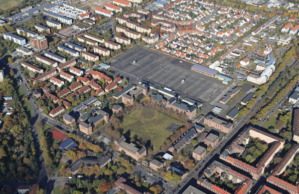 Aerial photo of the Turley Barracks, 2012