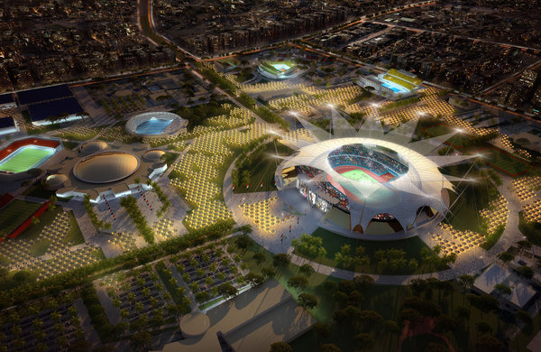 Cairo Olympic Stadium - visualization